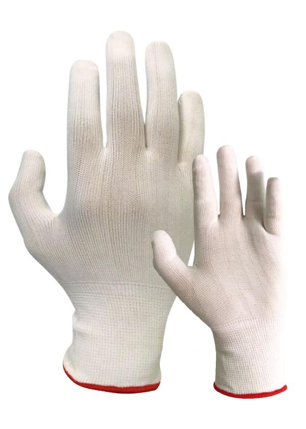 Guante Nylon color blanco