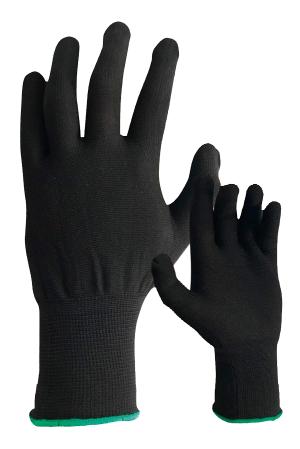 Guante Nylon color negro